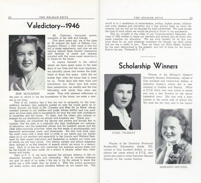 Pelham Pnyx 1947 - Valedictory Address and Scholarship Winners