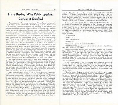 Pelham Pnyx 1947 - Harry Bradley Wins Public Speaking Contest at Stamford