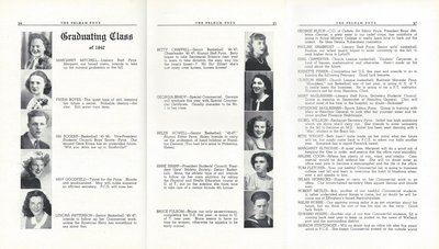Pelham Pnyx 1947 - Graduating Class Photographs and Ambitions
