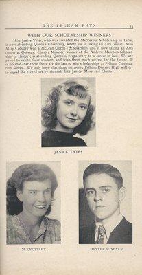 Pelham Pnyx 1949 - Scholarship Winners