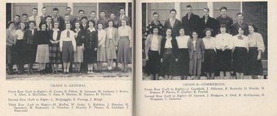 Pelham Pnyx 1949 - Class Photographs of Grade X General and Grade X Commercial