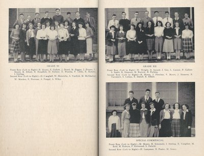 Pelham Pnyx 1949 - Class Photographs of Grade XI, Grade XII and Special Commercial
