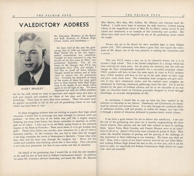 Pelham Pnyx 1949 - Valedictory Address