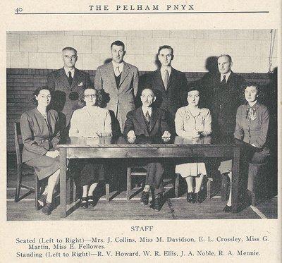 Pelham Pnyx 1949 - Photograph of Pelham District High School Staff