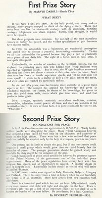 Pelham Pnyx 1950 - First and Second Prize Story
