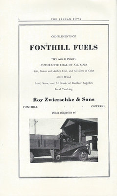 Pelham Pnyx Advertisements - Fonthill Fuels