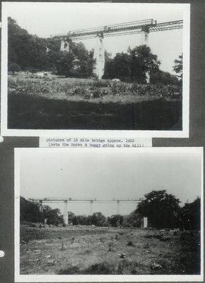Dundas Street Bridge Construction Over Sixteen Mile Creek, 1922