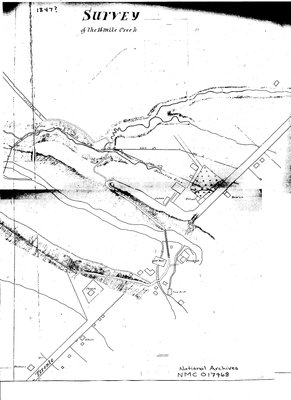 Survey of the Sixteen Mile Creek Hollow, 1847