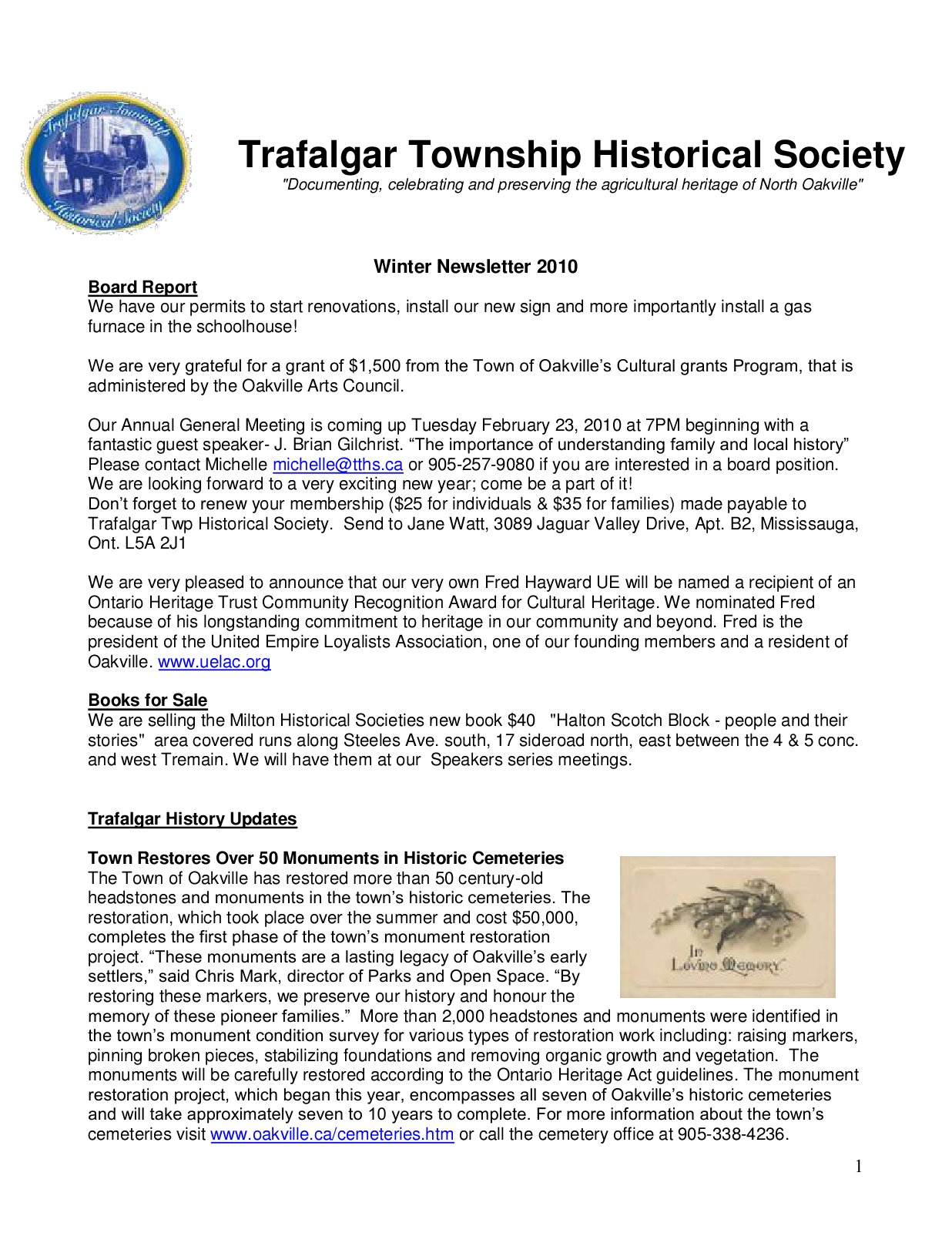 Historical Society Newsletter Templates