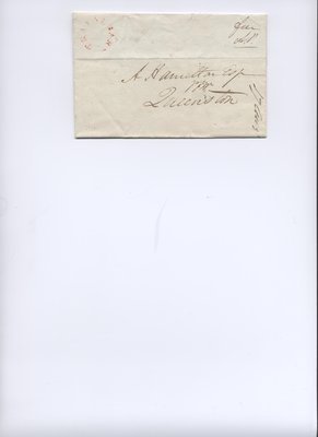 August 16, 1832 American Postage Remittance