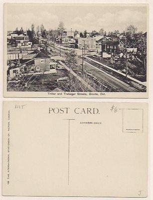 Postcard: Triller and Trafalgar Streets, Bronte, Ont.