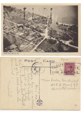 Postcard: Aerial View, Bronte Ont.