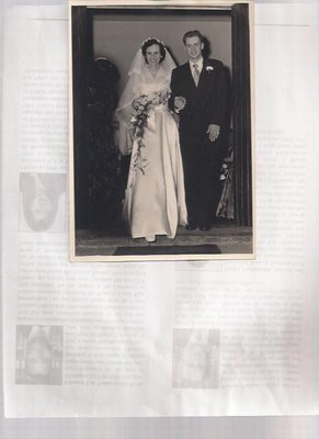 Marriage of Carol Hopper and Colin Anderson, 1950.