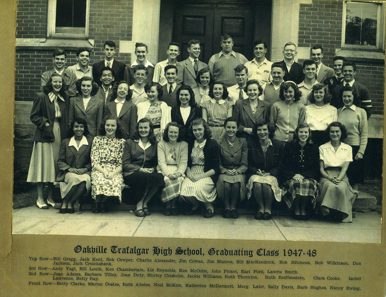 Oakville Trafalgar High School, Graduating Class, 1947-8 ...