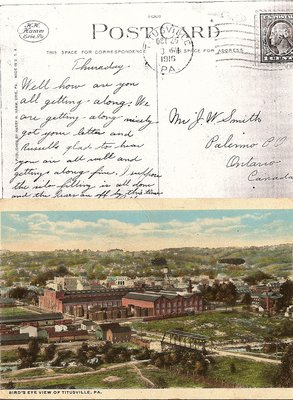 Postcard; Bird's Eye View of Titusville, PA