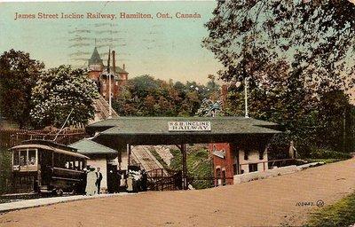 Postcard; James Street Incline Railway, Hamilton, Ont., Canada