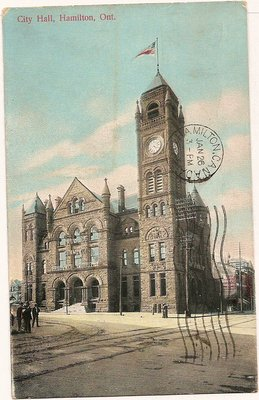 Postcard; City Hall, Hamilton, Ont.