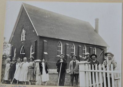 Spring Cleanup At Omagh Presbyterian Church, ca1925