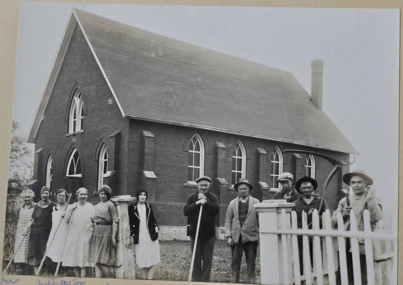 Spring Cleanup At Omagh Presbyterian Church, ca1925