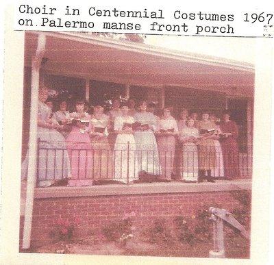 Palermo United Church Choir in Costume, 1967