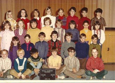 Percy W. Merry School, Grade 4 Class, 1971-1972