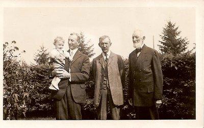 Four Generations: Michael, Albert, Wilbert, Harold Biggar