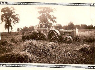 Binding Hay At Glenclare Farm