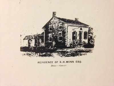 Sketch of the Home of King Henry Munn and Family