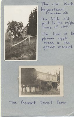"""Full Text of """"Century Old Home- Elmbank Farm, Tovell Brothers"""" with Photographs, by Margaret Joubert, MAC, 1969"""