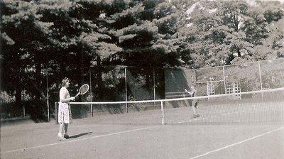 Tennis Court, Holyrood House, Oakville, ca1940