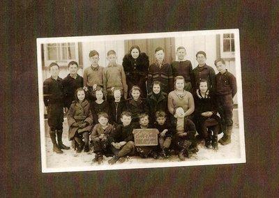 S.S. #4, Snider's School, 1937