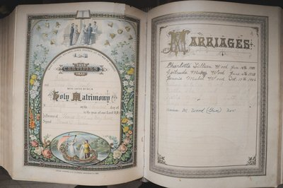 Wood Family Bible with Births and Deaths