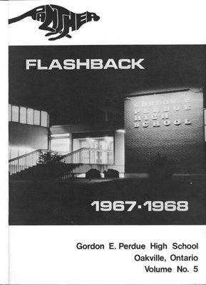 1967-1968 Gordon E. Perdue High School Yearbook Cover
