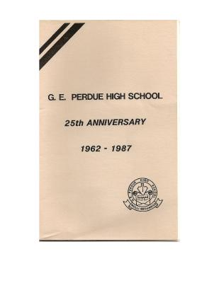 Gordon E. Perdue High School 25th Anniversary Programme, 1962 - 1987