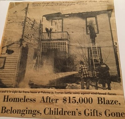 1958 Blaze Leaves 11 Palermo People Homeless Just Before Christmas