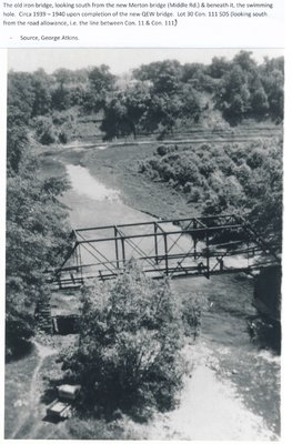 The Old Middle Road Bridge Over Bronte Creek, ca1939-1940