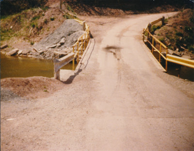 Glenorchy Bridge Construction, mid1980's