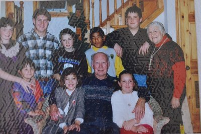 Denzil and Marion Lawrence with Grandchildren, Lawrendale Farm