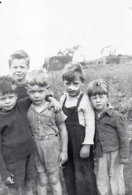Barber Family Children With Neighbourhood Friends, Lot 9, Concession 1 NDS, Late 1940s