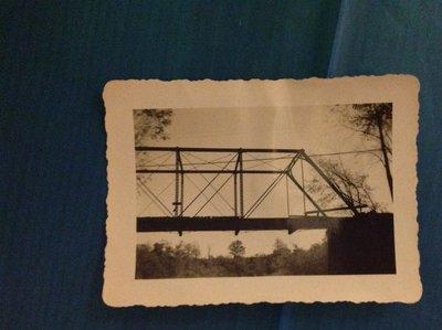 Demolition of the Twelve Mile Creek Train Bridge in 1947