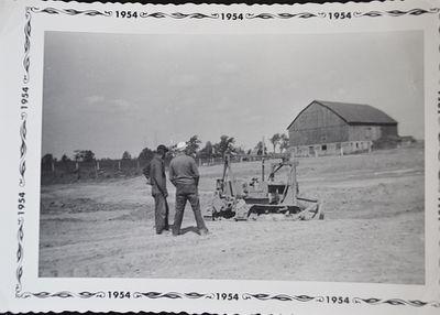 Digging the Shillum Farm Pond, 1953