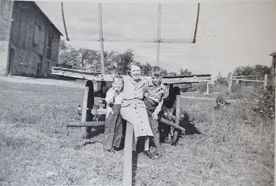Brian Shillum, Mrs. Taylor and Wayne Shillum, Early 1950's
