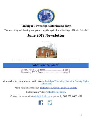 Trafalgar Township Historical Society Newsletter June 2019