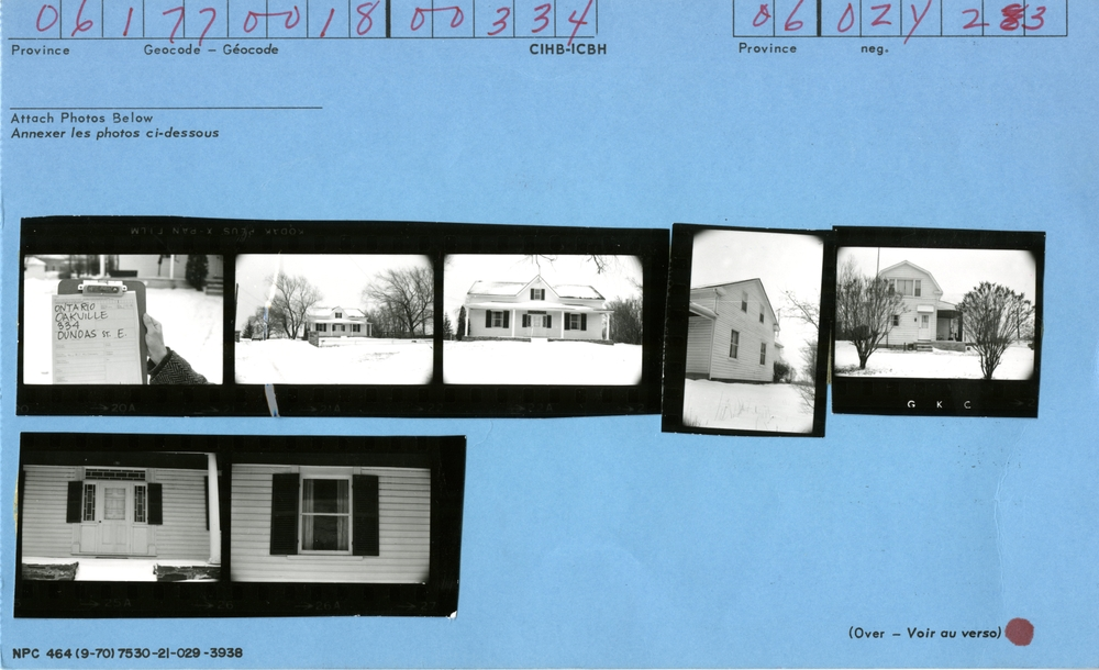 334 Dundas Street East, Canadian Inventory of Heritage Buildings, 1972