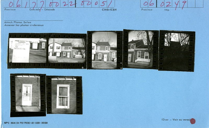 51 Bronte Road, Oakville, Canadian Inventory of Heritage Buildings, 1971
