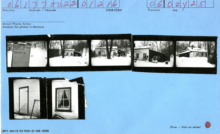1216 Bronte Road, Oakville, Canadian Inventory of Heritage Buildings, 1972