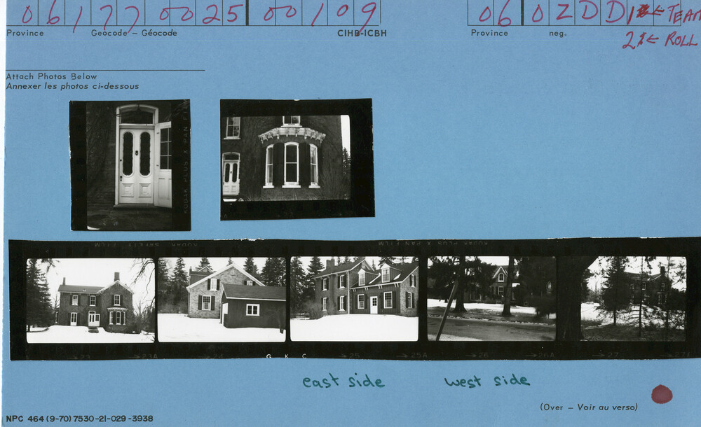 109 Balsam Drive, Oakville, Canadian Inventory of Heritage Buildings, 1972