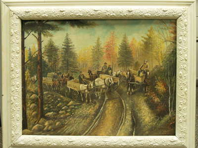 Painting: Pulling Stone for Highway 25