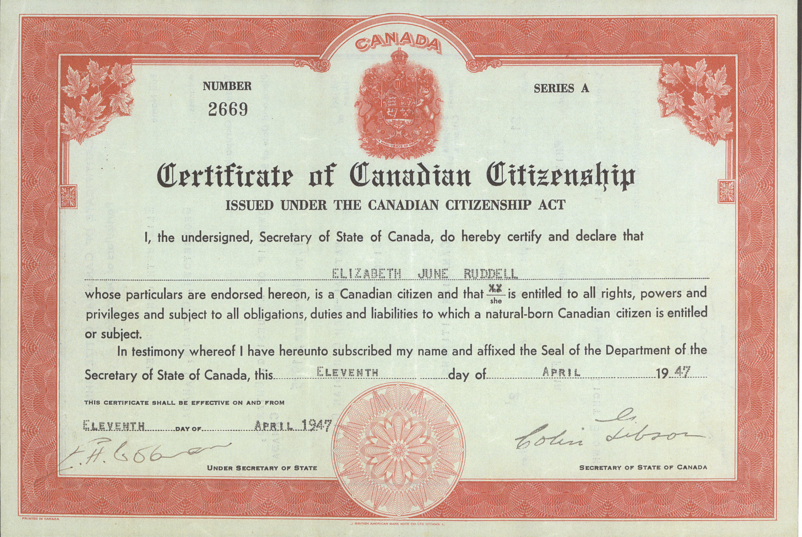 Cdn citizenship certificate ruddell trafalgar township cdn citizenship certificate ruddell trafalgar township historical society digital collections xflitez Image collections