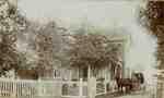 Oakhurst- front entrance. Home on West side of Bronte Road below Upper Middle Road